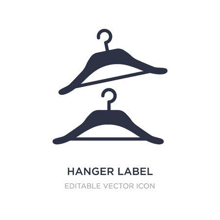 hanger label icon on white background. Simple element illustration from General concept. hanger label icon symbol design.
