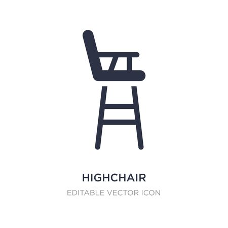 highchair icon on white background. Simple element illustration from Buildings concept. highchair icon symbol design. Stock Illustratie