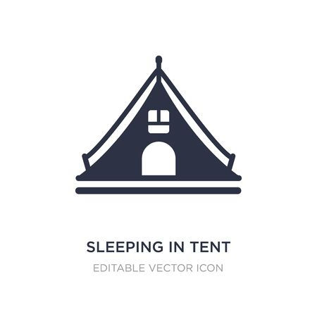 sleeping in tent icon on white background. Simple element illustration from General concept. sleeping in tent icon symbol design.