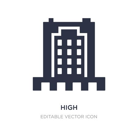 high icon on white background. Simple element illustration from Buildings concept. high icon symbol design.