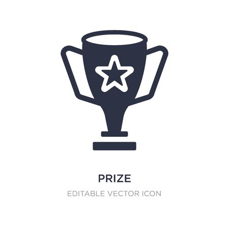 prize icon on white background. Simple element illustration from General concept. prize icon symbol design.