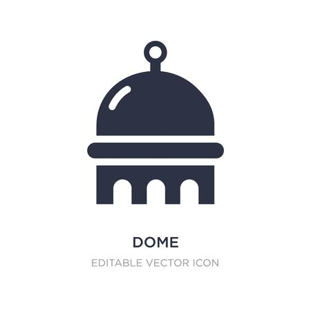 dome icon on white background. Simple element illustration from Buildings concept. dome icon symbol design.