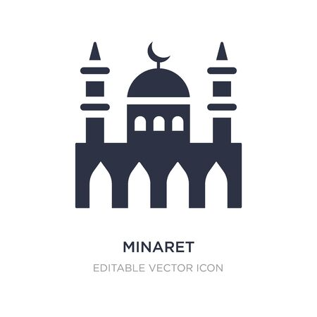 minaret icon on white background. Simple element illustration from Buildings concept. minaret icon symbol design.