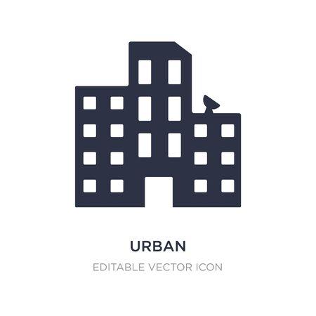 urban icon on white background. Simple element illustration from Buildings concept. urban icon symbol design. Stock Illustratie