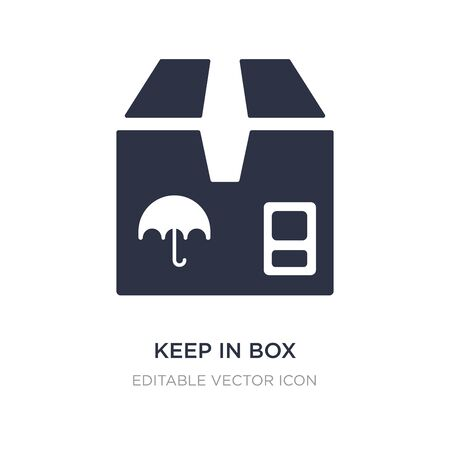 keep in box icon on white background. Simple element illustration from General concept. keep in box icon symbol design. Stock Illustratie