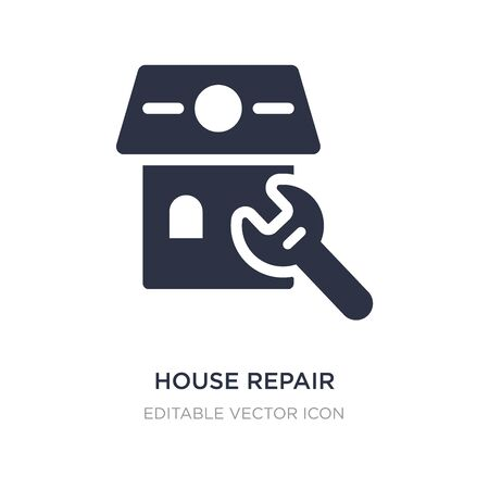 house repair icon on white background. Simple element illustration from Buildings concept. house repair icon symbol design. Stock Illustratie
