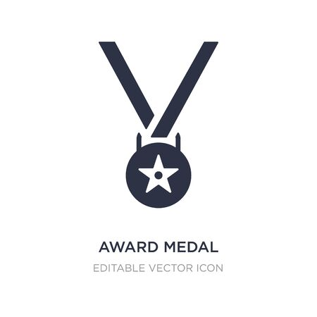 award medal icon on white background. Simple element illustration from General concept. award medal icon symbol design.
