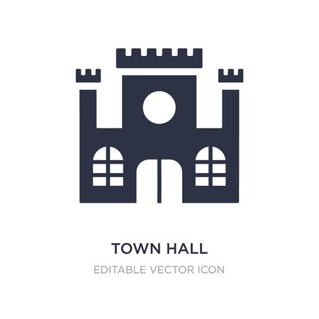 town hall icon on white background. Simple element illustration from Buildings concept. town hall icon symbol design. Stock Illustratie