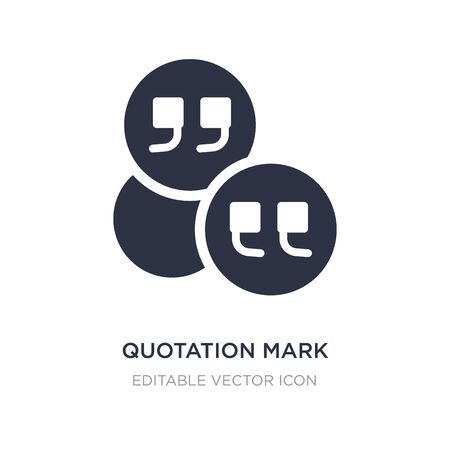 quotation mark inside a circle icon on white background. Simple element illustration from General concept. quotation mark inside a circle icon symbol design.