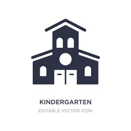 kindergarten icon on white background. Simple element illustration from Buildings concept. kindergarten icon symbol design.