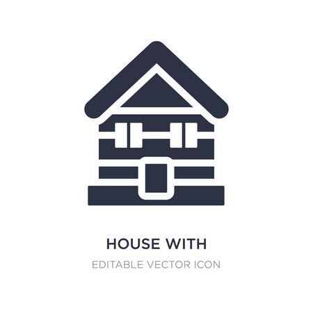 house with wooden roof icon on white background. Simple element illustration from Buildings concept. house with wooden roof icon symbol design.