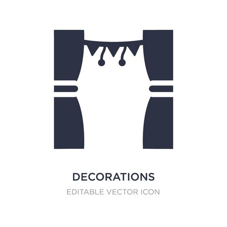 decorations icon on white background. Simple element illustration from Buildings concept. decorations icon symbol design.