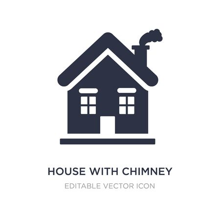 house with chimney icon on white background. Simple element illustration from Buildings concept. house with chimney icon symbol design.