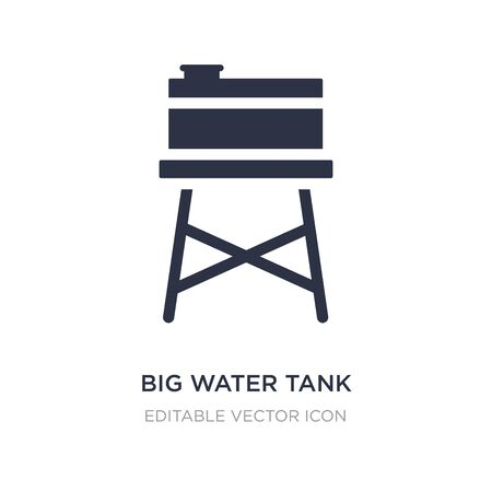 big water tank icon on white background. Simple element illustration from Buildings concept. big water tank icon symbol design.