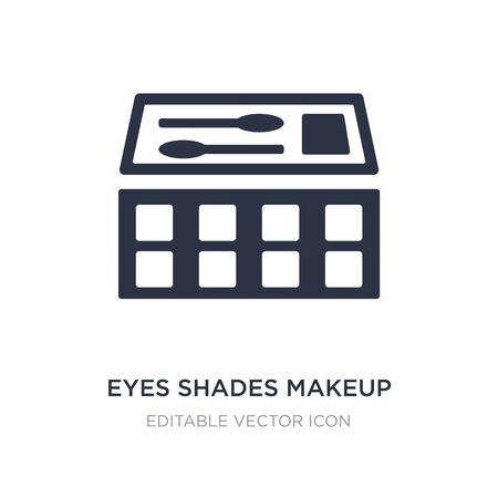 eyes shades makeup icon on white background. Simple element illustration from General concept. eyes shades makeup icon symbol design. Stock Illustratie