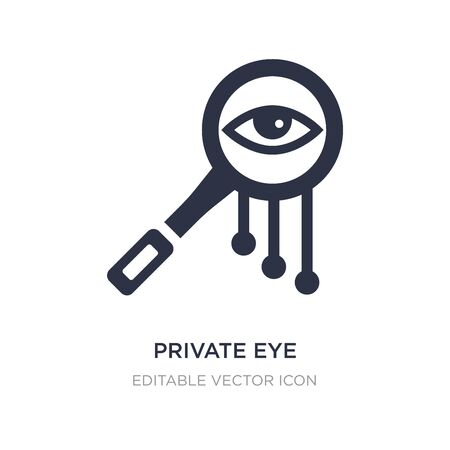 private eye magnifying glass icon on white background. Simple element illustration from General concept. private eye magnifying glass icon symbol design.