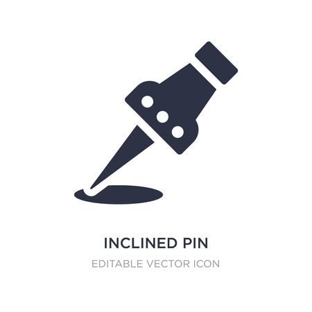 inclined pin icon on white background. Simple element illustration from General concept. inclined pin icon symbol design. Stock Illustratie