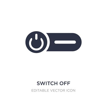 switch off icon on white background. Simple element illustration from General concept. switch off icon symbol design.