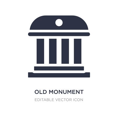old monument icon on white background. Simple element illustration from Buildings concept. old monument icon symbol design.