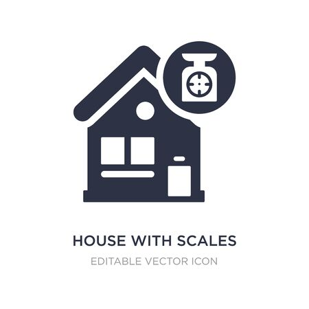 house with scales icon on white background. Simple element illustration from Buildings concept. house with scales icon symbol design.