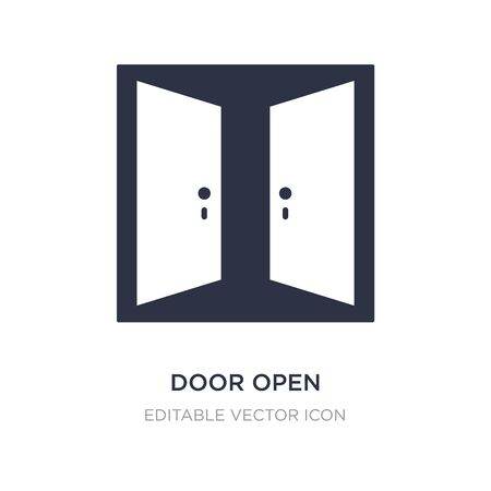 door open icon on white background. Simple element illustration from Buildings concept. door open icon symbol design.