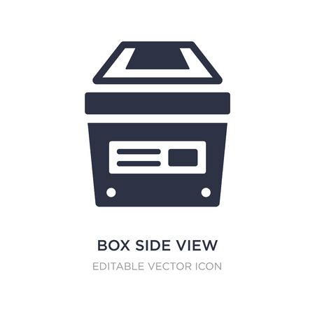 box side view icon on white background. Simple element illustration from General concept. box side view icon symbol design.
