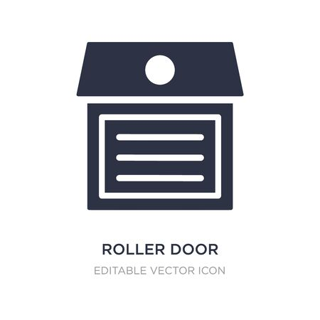 roller door icon on white background. Simple element illustration from Buildings concept. roller door icon symbol design.