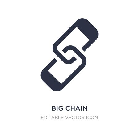 big chain icon on white background. Simple element illustration from General concept. big chain icon symbol design. Stock Illustratie