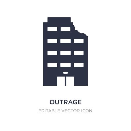 outrage icon on white background. Simple element illustration from Buildings concept. outrage icon symbol design.