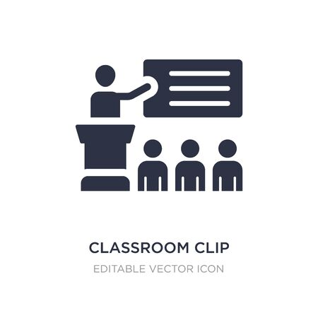 classroom clip icon on white background. Simple element illustration from General concept. classroom clip icon symbol design. Ilustração