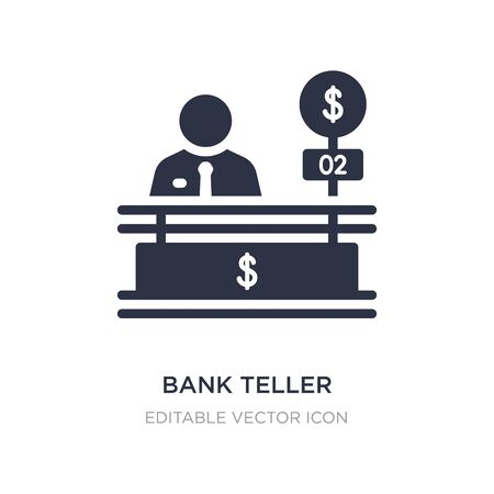 bank teller icon on white background. Simple element illustration from Business concept. bank teller icon symbol design. Illustration