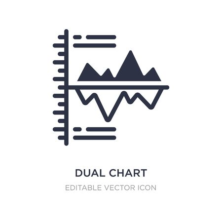 dual chart icon on white background. Simple element illustration from Business concept. dual chart icon symbol design.
