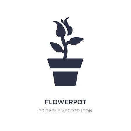 flowerpot icon on white background. Simple element illustration from Nature concept. flowerpot icon symbol design. 일러스트