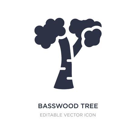 icono de árbol de tilo sobre fondo blanco. Ilustración de elemento simple del concepto de naturaleza. diseño de símbolo de icono de árbol de tilo.
