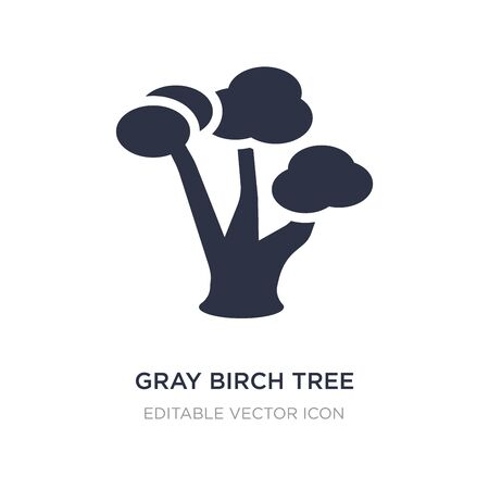 gray birch tree icon on white background. Simple element illustration from Nature concept. gray birch tree icon symbol design.