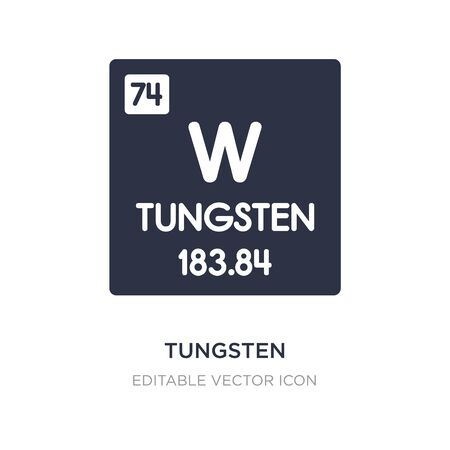 tungsten icon on white background. Simple element illustration from UI concept. tungsten icon symbol design. 向量圖像