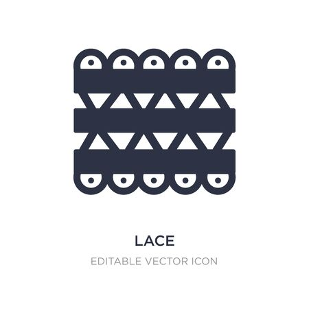 lace icon on white background. Simple element illustration from UI concept. lace icon symbol design. 일러스트