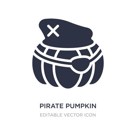 pirate pumpkin icon on white background. Simple element illustration from Other concept. pirate pumpkin icon symbol design.