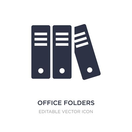 office folders icon on white background. Simple element illustration from UI concept. office folders icon symbol design.