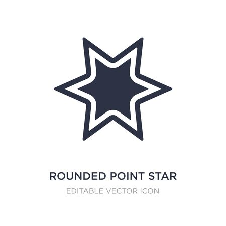 rounded point star icon on white background. Simple element illustration from UI concept. rounded point star icon symbol design. Ilustrace