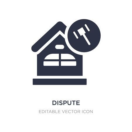 dispute icon on white background. Simple element illustration from Buildings concept. dispute icon symbol design.