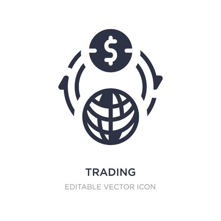 trading icon on white background. Simple element illustration from Commerce concept. trading icon symbol design.