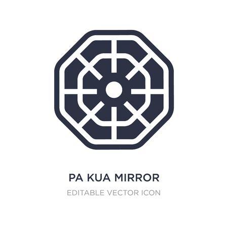 pa kua mirror icon on white background. Simple element illustration from Cultures concept. pa kua mirror icon symbol design. Ilustração