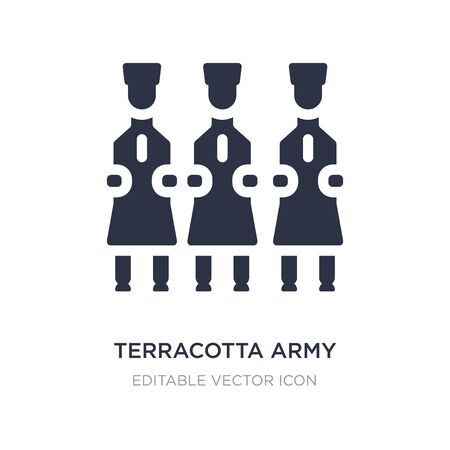 terracotta army icon on white background. Simple element illustration from Cultures concept. terracotta army icon symbol design.