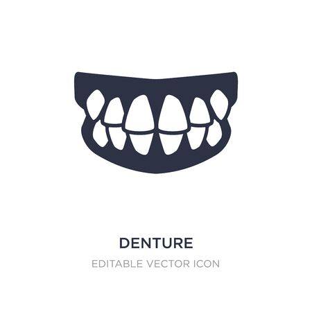 denture icon on white background. Simple element illustration from Dentist concept. denture icon symbol design.