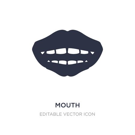 mouth icon on white background. Simple element illustration from Dentist concept. mouth icon symbol design.
