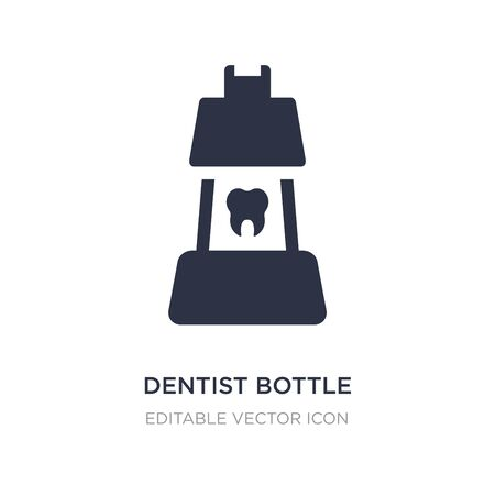 dentist bottle with liquid icon on white background. Simple element illustration from Dentist concept. dentist bottle with liquid icon symbol design. Vettoriali