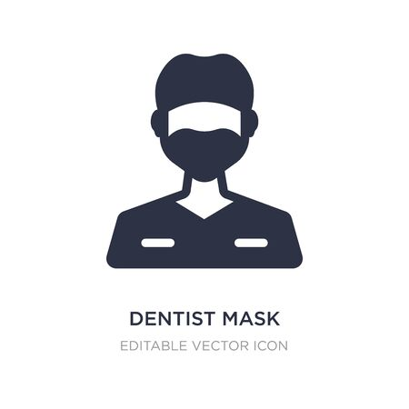 dentist mask icon on white background. Simple element illustration from Dentist concept. dentist mask icon symbol design.