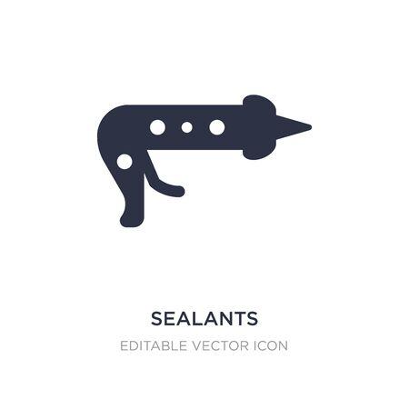 sealants icon on white background. Simple element illustration from Dentist concept. sealants icon symbol design. Vecteurs