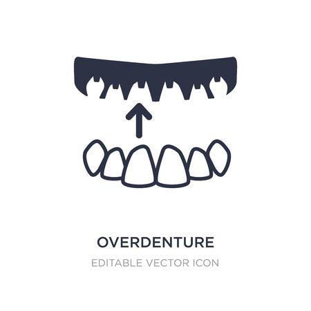 icône de prothèse sur fond blanc. Illustration d'élément simple du concept de dentiste. conception de symbole d'icône de prothèse.